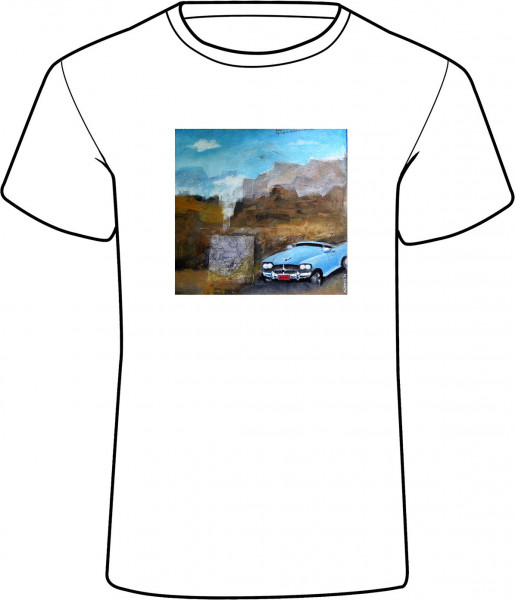Grand Canyon, Car auf Damen T-Shirt - Grand Canyon, Car - Damen T-Shirt mit einem Namen personalisierbar - Künstlermotiv © Reiner Stolte für House of Messur