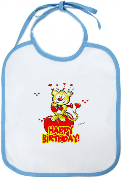 Happy Birthday mit Lovecrazy Leo – Baby-Lätzchen